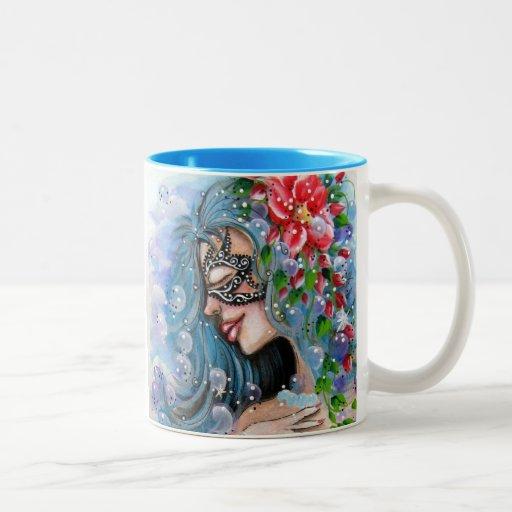 Fantasy girl blue designs mug zazzle for Blue mug designs