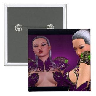 Fantasy Girl Warrior 2 Inch Square Button