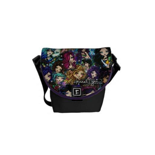 Fantasy Girls Mermaids Fairies Comic Art Courier Bag