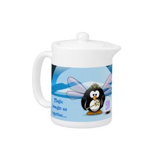 Fantasy Glacier Penguins Wizard Fairy Crystal Ball