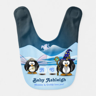 Fantasy Glacier Penguins Wizard Fairy Crystal Ball Bibs
