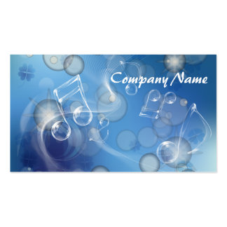 Fantasy Glass Music Notes Business Cards