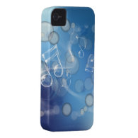 Fantasy Glass Music Notes Case-Mate iPhone 4 Cases