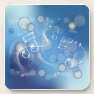 Fantasy Glass Music Notes Coasters