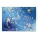 Fantasy Glass Music Notes Greeting Cards
