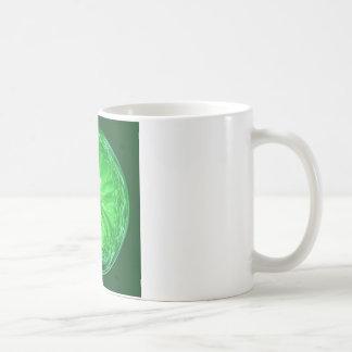 Fantasy glass orb in green. coffee mug