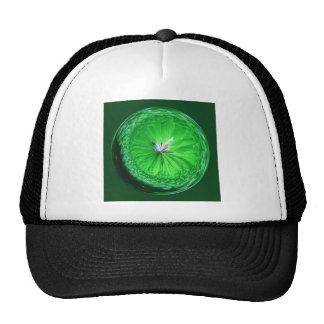 Fantasy glass orb in green. cap