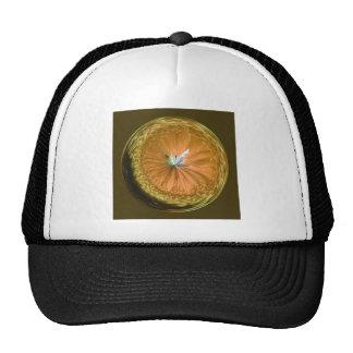 fantasy glass orb in orange cap