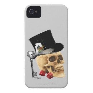 Fantasy Gothic gambler skull tattoo design iPhone 4 Cover