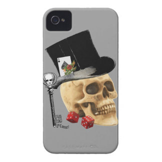 Fantasy Gothic gambler skull tattoo design iPhone 4 Cover