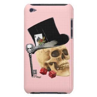 Fantasy Gothic gambler skull tattoo design iPod Touch Case-Mate Case