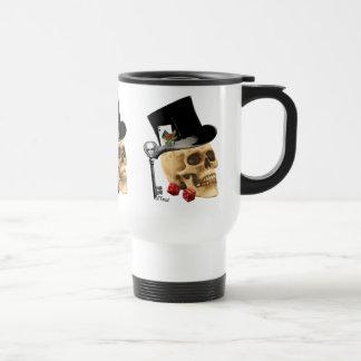 Fantasy Gothic gambler skull tattoo design Mug