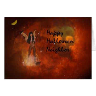 Halloween Themed Fantasy Halloween Card for Neighbor