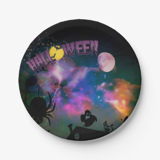 Fantasy Halloween Party Paper plates