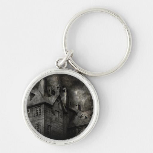 Fantasy - Haunted - It was a dark and stormy night Key Chains