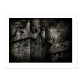 Fantasy - Haunted - It was a dark and stormy night Post Cards