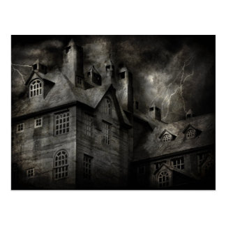 Fantasy - Haunted - It was a dark and stormy night Postcard