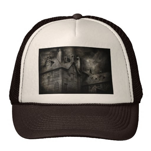 Fantasy - Haunted - It was a dark and stormy night Trucker Hat