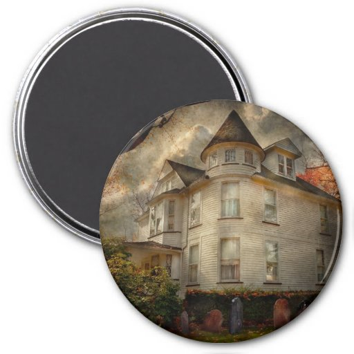 Fantasy - Haunted - The Caretakers House Magnets