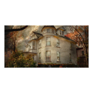 Fantasy - Haunted - The Caretakers House Personalized Photo Card