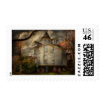 Fantasy - Haunted - The Caretakers House Postage Stamp