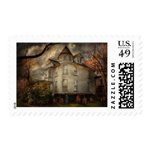 Fantasy - Haunted - The Caretakers House Postage