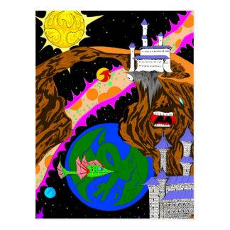 Fantasy hidden images postcard