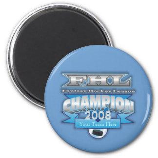 Fantasy Hockey Champ 2 Inch Round Magnet