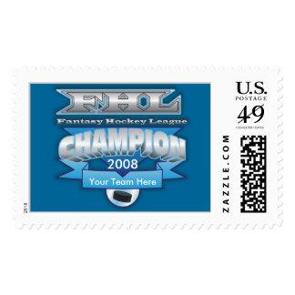 Fantasy Hockey Champ Postage Stamp