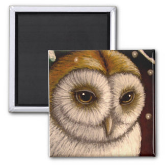 FANTASY HOLIDAY BARN OWL Magnet