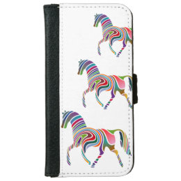 Fantasy Horse Animal Print Wallet Phone Case For iPhone 6/6s