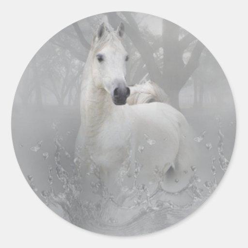 Fantasy Horse Classic Round Sticker