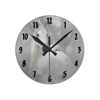 Fantasy Horse Round Clock