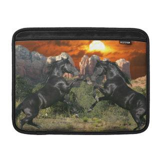 Fantasy Horses: Black Magic MacBook Sleeve