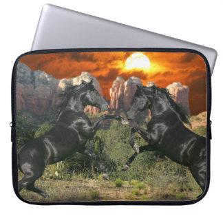 Fantasy Horses: Black Magic Laptop Computer Sleeve