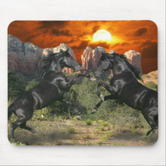 Fantasy Horses: Black Magic Mouse Pad