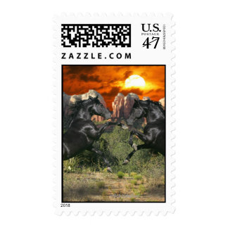 Fantasy Horses: Black Magic Postage