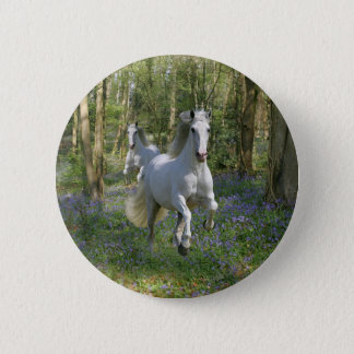 Fantasy Horses: Bluebell Wood Pinback Button