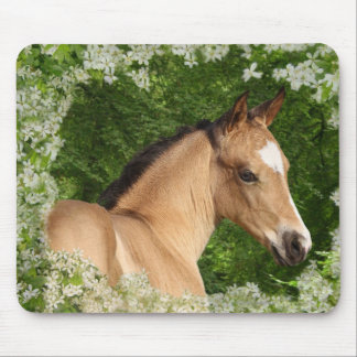 Fantasy Horses: Flowers Mouse Pad