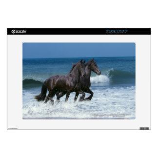 "Fantasy Horses: Friesians & Sea 15"" Laptop Skin"