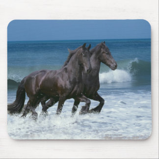 Fantasy Horses: Friesians & Sea Mouse Pad