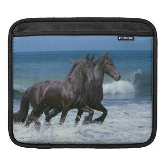 Fantasy Horses: Friesians & Sea Sleeve For iPads