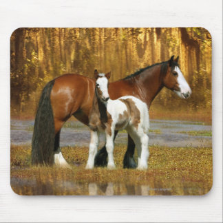 Fantasy Horses: Mare & Foal Mouse Pad