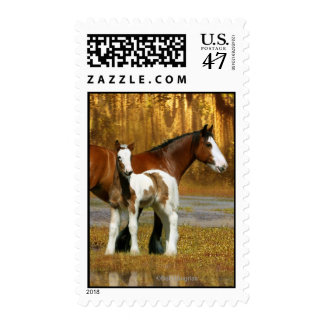 Fantasy Horses: Mare & Foal Stamp