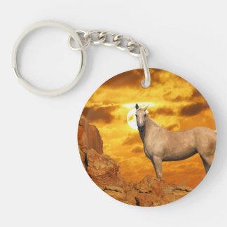 Fantasy Horses: Mountain Double-Sided Round Acrylic Keychain