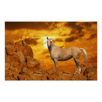 Fantasy Horses: Mountain Poster
