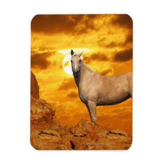 Fantasy Horses: Mountain Rectangular Photo Magnet