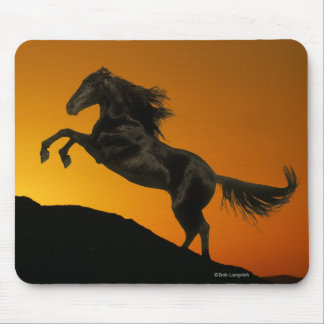 Fantasy Horses: Mountain Sunset Mouse Pad