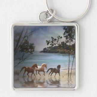 Fantasy Horses on the Beach Key Ring