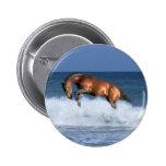 Fantasy Horses: Selle Francais & Sea Pinback Button